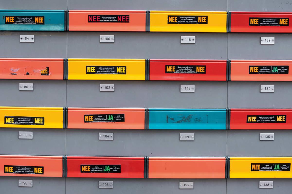 Ja/Ja-sticker gaat papierverspilling tegen in Brabant