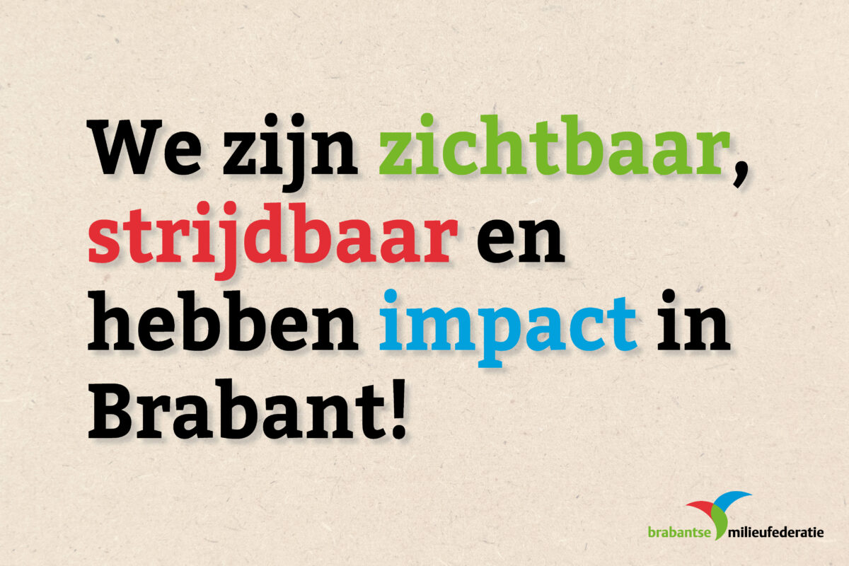 BMF blijft ook in 2020 strijden voor een natuurlijk Brabant