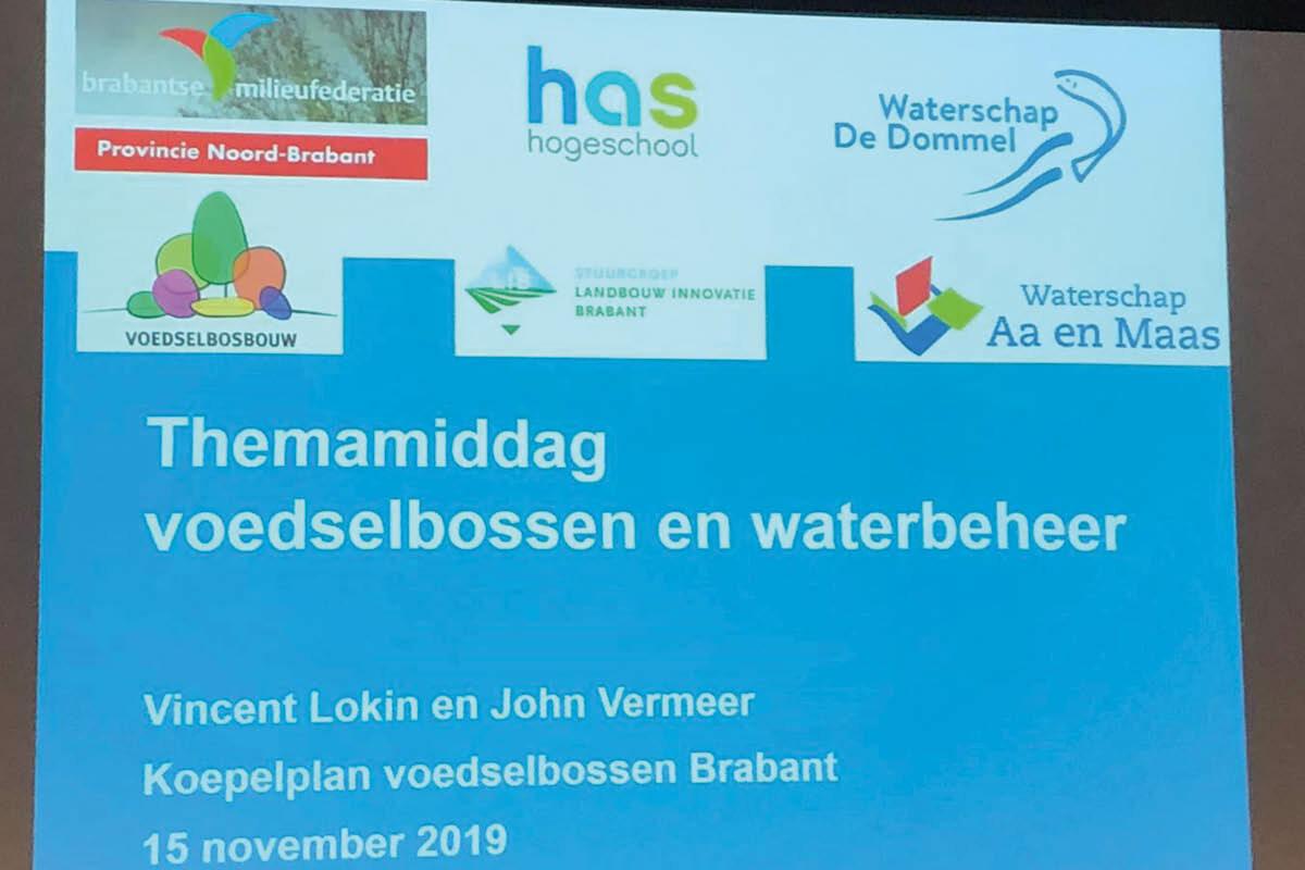 Studiemiddag brengt voedselbossen en waterbeleid samen