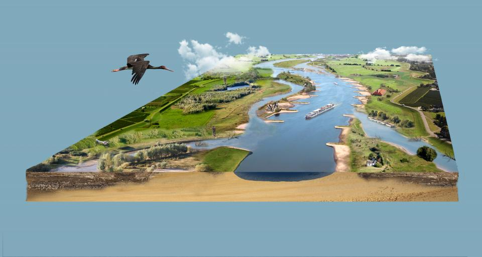 Natuurontwikkeling voor bevaarbaarheid rivieren