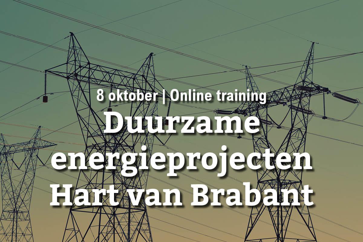 8 oktober | Online training: duurzame energieprojecten in Hart van Brabant