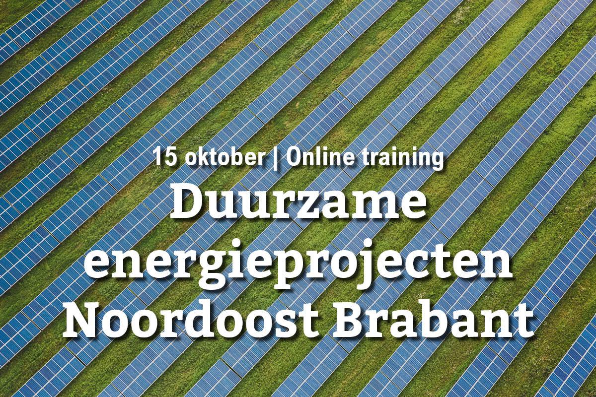 15 oktober | Online training: duurzame energieprojecten in Noordoost Brabant
