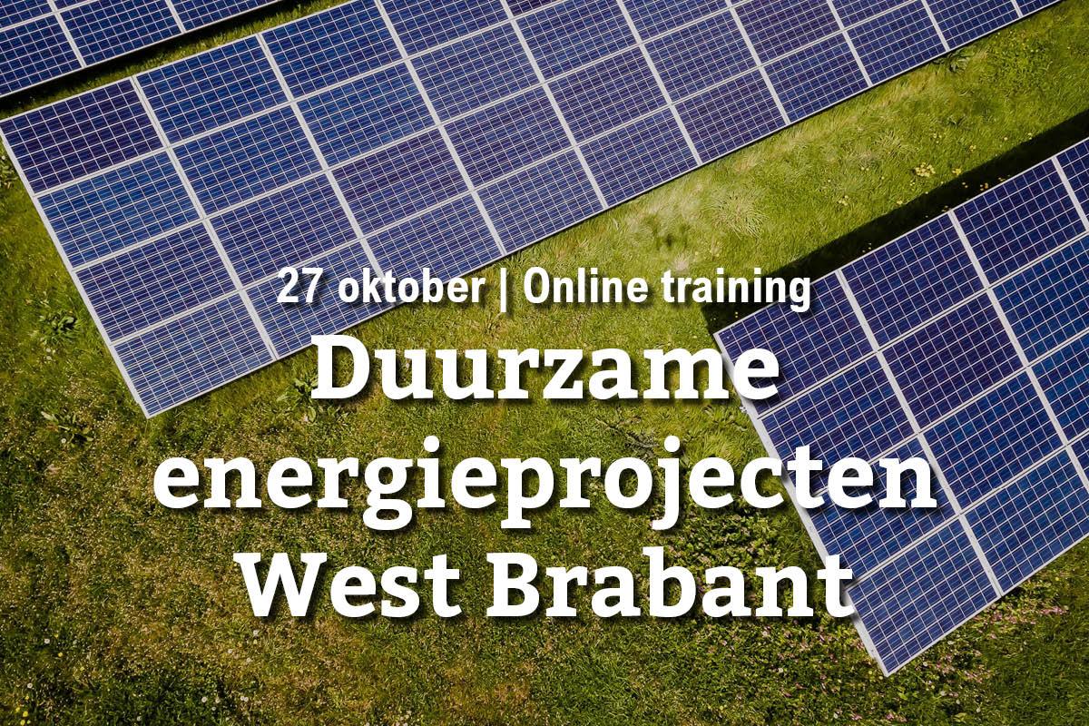 27 oktober | Online training: duurzame energieprojecten in West Brabant