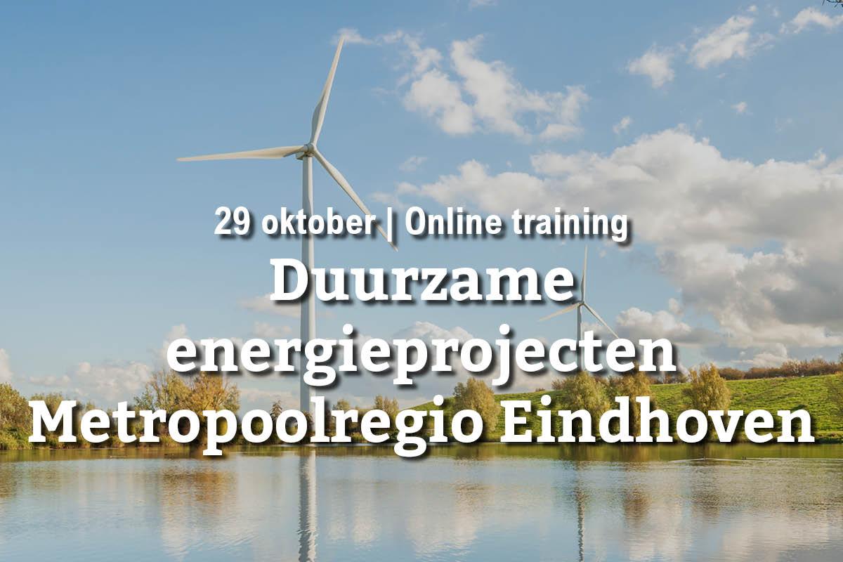 29 oktober | Online training: duurzame energieprojecten in Metropoolregio Eindhoven