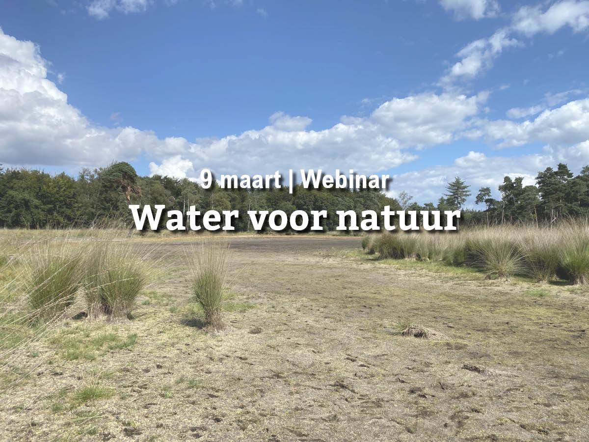 Terugkijken | Webinar Water voor natuur