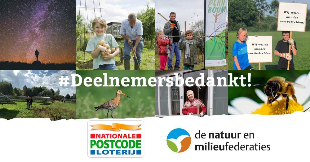 Nationale Postcode Loterij verlengt samenwerking met de Natuur en Milieufederaties