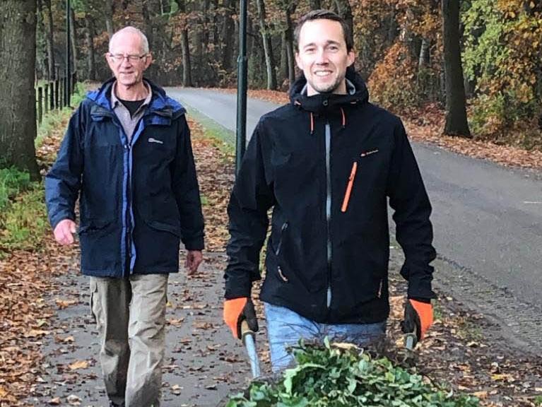 29-jarige Pim de Boer legt voedselbos aan in Helvoirt