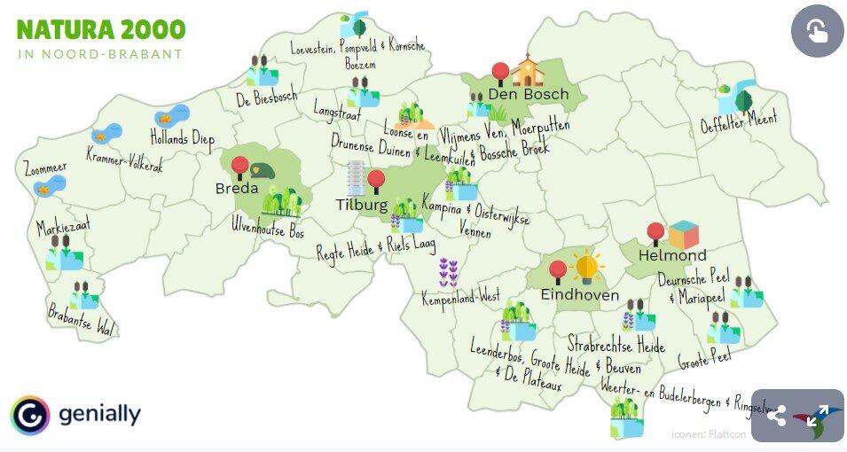 Natura 2000-gebieden in Noord-Brabant