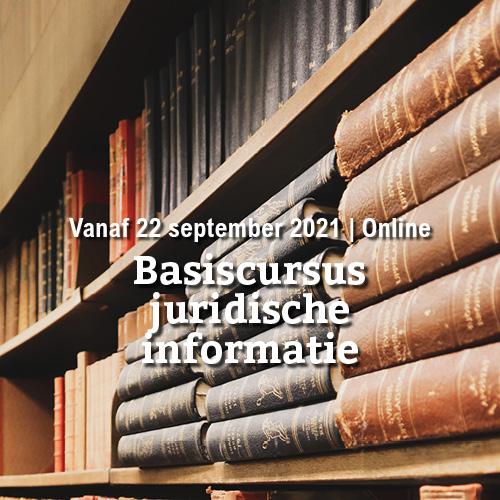 Vanaf 22 september | Basiscursus juridische informatie